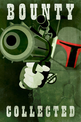 Bounty,Collected,12x18,print,star,wars,boba,fett,mandolorian,blaster,bounty,hunter