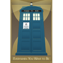 Everywhen You Want to Be - Tardis 12x18 Print - product images  of
