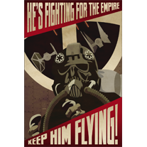 Keep Him Flying Empire Propaganda 12x18 Print - product images  of