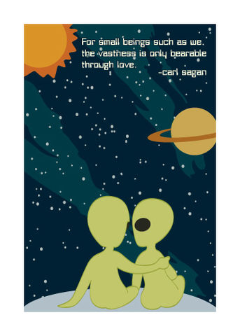 Carl,Sagan,Cosmic,Love,Geeky,Greeting,Card,Nerd,space,geeky,aliens,cosmos,Carl Sagan