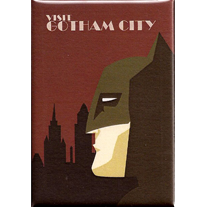 Visit,Gotham,2x3,Magnet,city,batman,travel,visit,wpa,dccomics