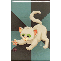 Geeky Kitty 2x3 Magnet - product images  of
