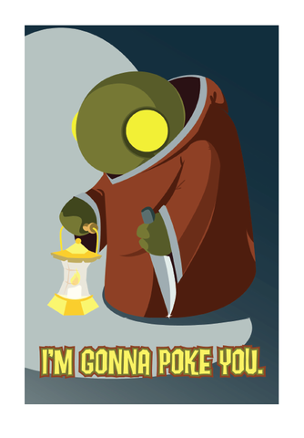 Gonna,Poke,You,-,Geeky,Greeting,Card,geek,fan,Nerd,square,gamer,final fantasy,ps2,tonberry