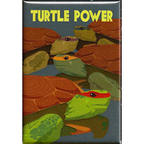 TMNT Turtle Power 2x3 Magnet - product images  of