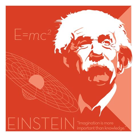 Albert,Einstein,-,Eureka,Giclee,print,giclee, print, science, einstein, albert einstein, relativity, e=mc2, vector art
