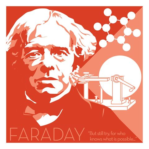 Michael,Faraday,-,Eureka,Giclee,print,giclee, print, science, einstein, albert einstein, relativity, e=mc2, vector art