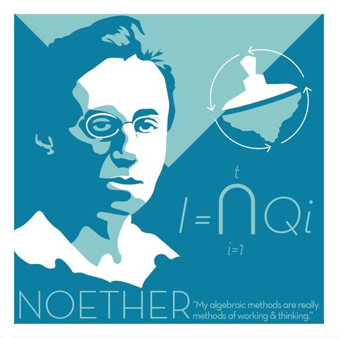 Emmy,Noether,-,Eureka,Giclee,print,giclee, print, science, isaac newton, prism, apple