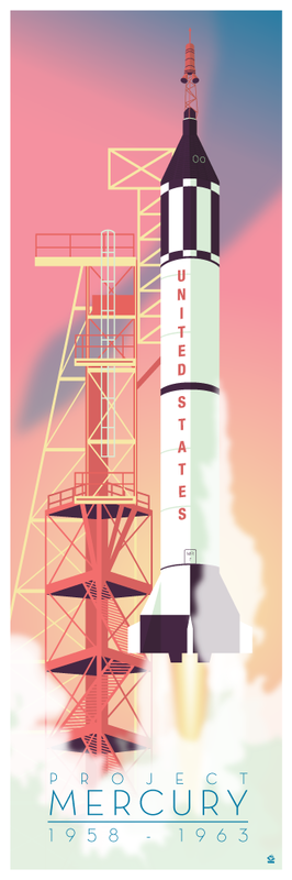 Project Mercury Redstone 12x36 POPaganda print - product images