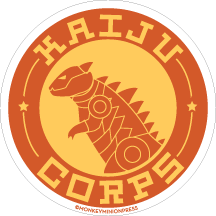 Kaiju,Corps,Logo/Patch,-,Vinyl,Sticker,retro,Design,monster,kaiju,corps,kaiju corps,fight,pacific rim,del toro