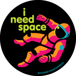 I,Need,Space,Astronaut,-,Vinyl,Sticker,retro,Design,80s,neon,space,spaceman,starman,astronaut,bright,i need space,nasa,apollo,gemini,mercury,shuttle