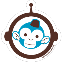 Space,Monkey,-,Vinyl,Sticker,monkey minion press,mmp,space monkey,monkeyminion,cute,space,design,logo