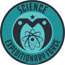 Science,Expeditionary,Force,-,Vinyl,Sticker,monkey minion press,mmp,space monkey,monkeyminion,cute,space,design,logo