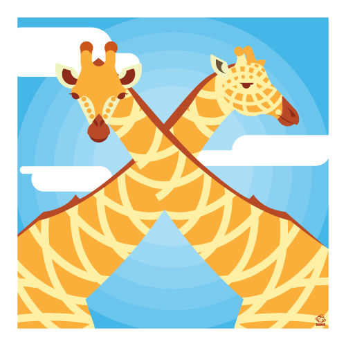 Giraffes 10x10 Giclee Print - product images