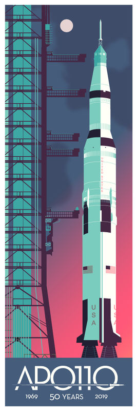 Apollo 11 Pre Launch 50th Anniversary 12x36 Print - product images  of