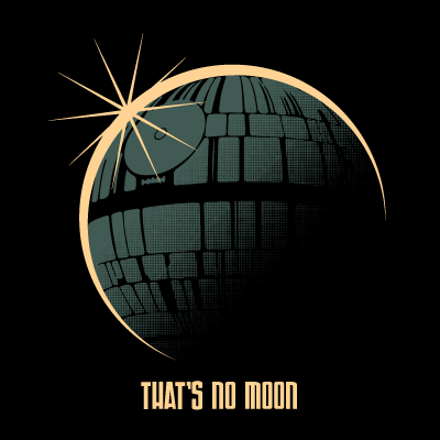 That's,No,Moon,Eclipse,8X8,Art,Print,poster,digital print, death star, star wars, darth vader, obi wan