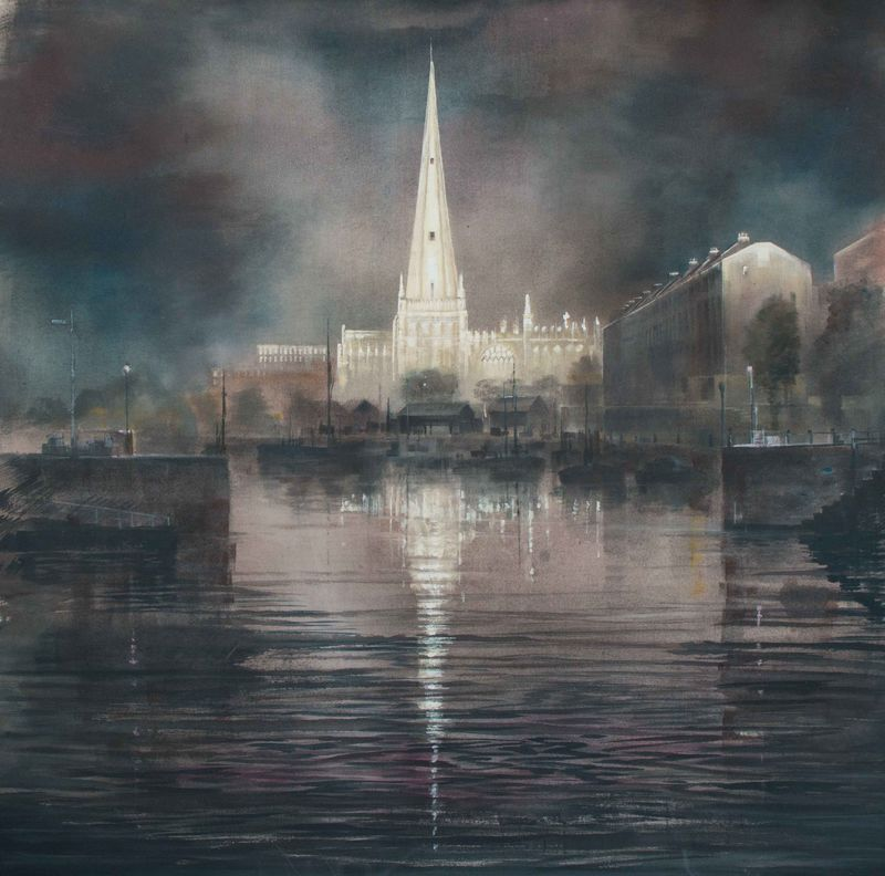 Church over the water by Andrew Burns Colwill - product images
