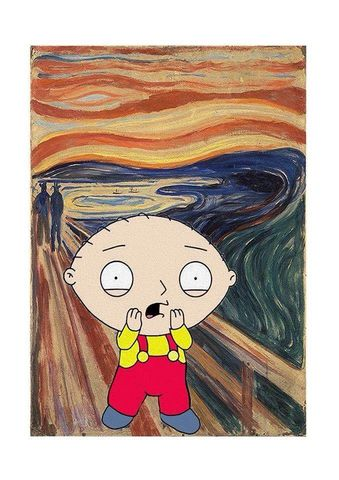 Tantrum,by,Angus,print, the scream