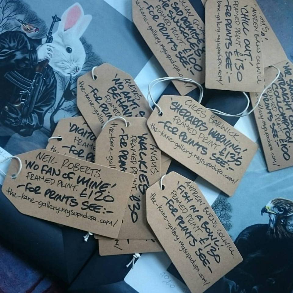 Labels done ready for the opening night on Friday