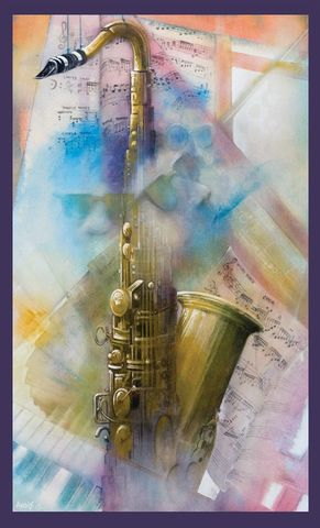 Sax,by,Andrew,Burns,Colwill,Signed limited edition print, rabbit, anthropomorphic, low brow
