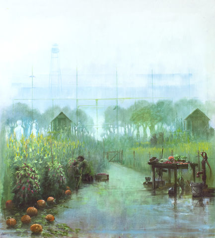 Allotment,by,Andrew,Burns,Colwill,Signed print, 20/50 Vision, Andrew Burns Colwill, Street art, Fine art, Environmental, Climate Change