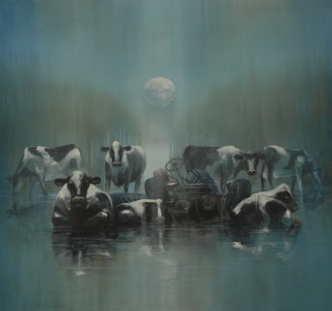 Cows,by,Andrew,Burns,Colwill,Signed print, 20/50 Vision, Andrew Burns Colwill, Street art, Fine art, Environmental, Climate Change