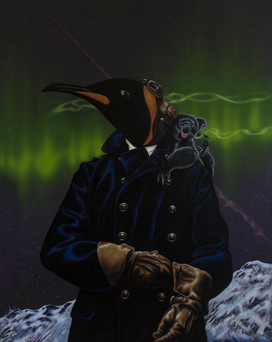 Northern,Lights,by,Julian,Quaye,Signed limited edition print, rabbit, anthropomorphic, low brow