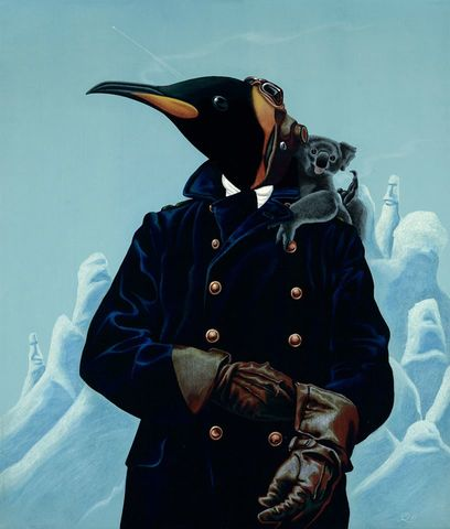 The,Aviator,by,Julian,Quaye,Signed limited edition print, rabbit, anthropomorphic, low brow