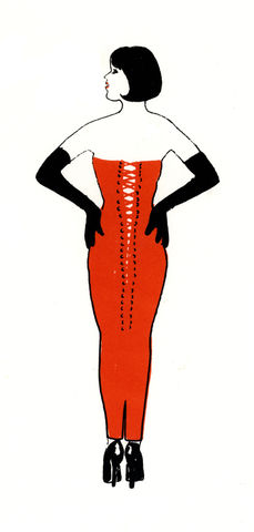 Dress,With,Attitude,by,Mary,Rouncefield,screenprints, art, maths, curves