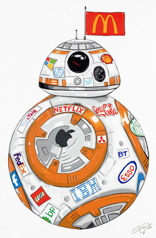 BB-8,(As,sponsored,by),-,original,by,Stephen,Quick,Canvas print