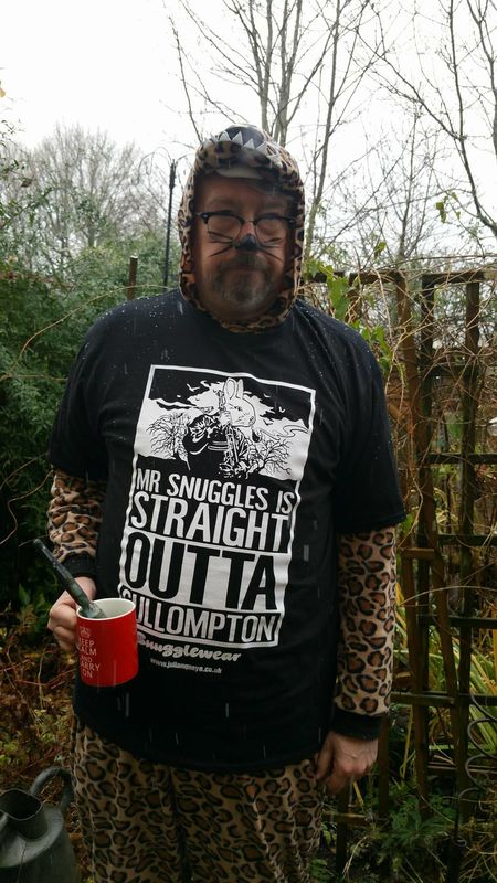 Mr Snuggles is Straight Outta Cullomton T-shirt by Julian Quaye - product images  of