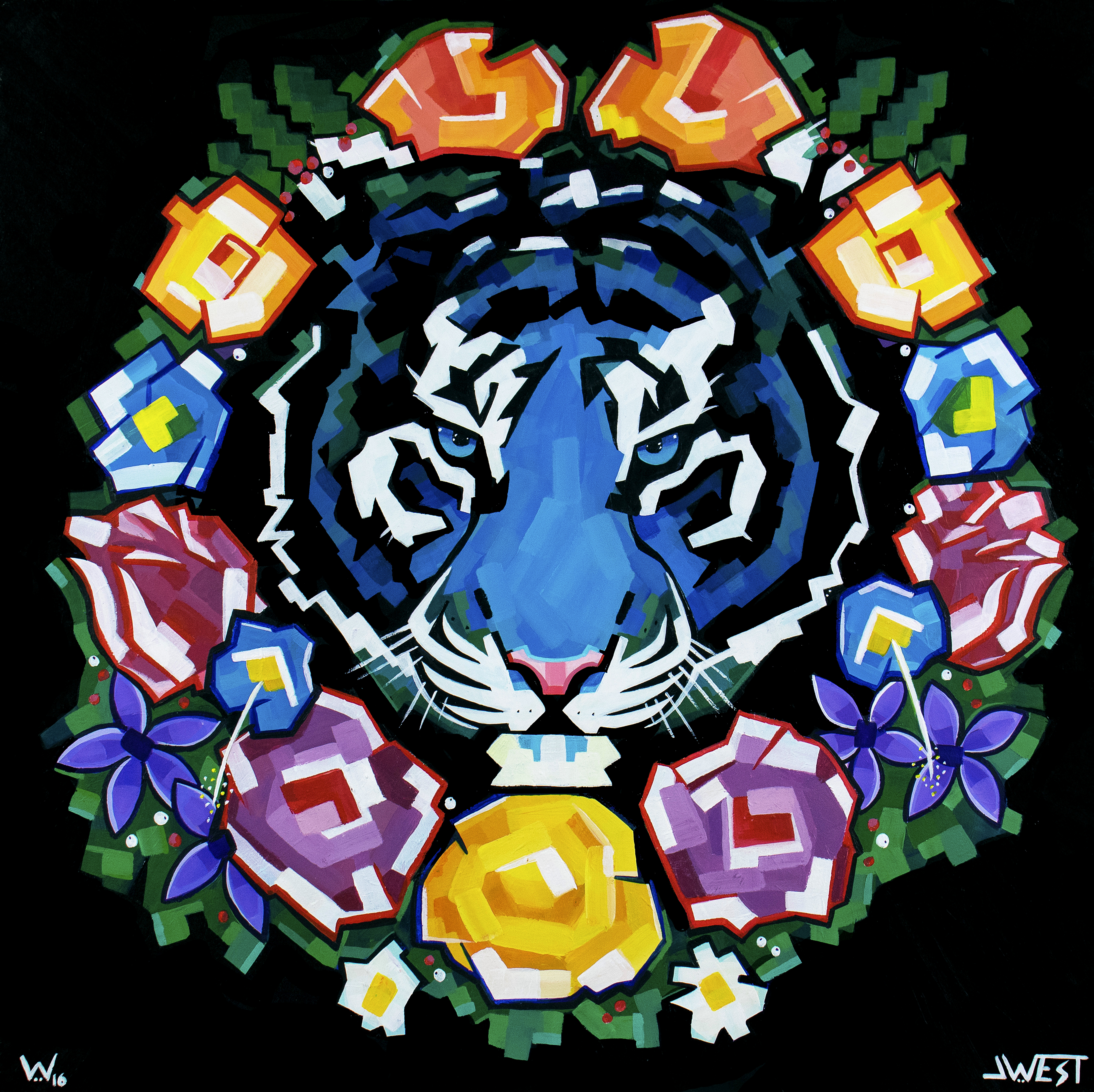 Tiger Wreath by JWest