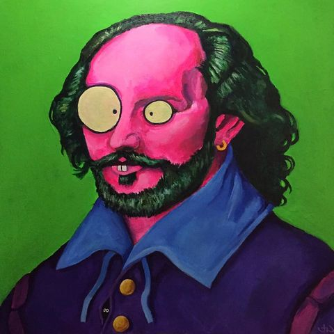 Shakespeare,and,Co,signed,limited,edition,print,by,Jimmer,Willmott,Limited edition print, Jimmer Willmott, pop surrealism,