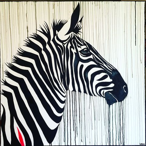 The,Striped,Horse,-,signed,limited,edition,print,by,Sophie,Long,Limited edition print, Sophie Long, Zebra