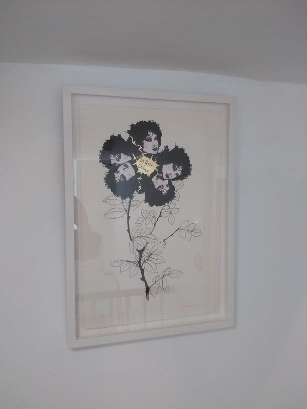 La Rosa Caninna  Hand Finished Screen Print by Emma Caton - product images