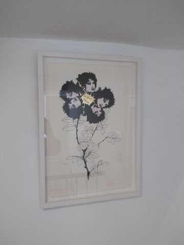 La,Rosa,Caninna,Hand,Finished,Screen,Print,by,Emma,Caton,Original art