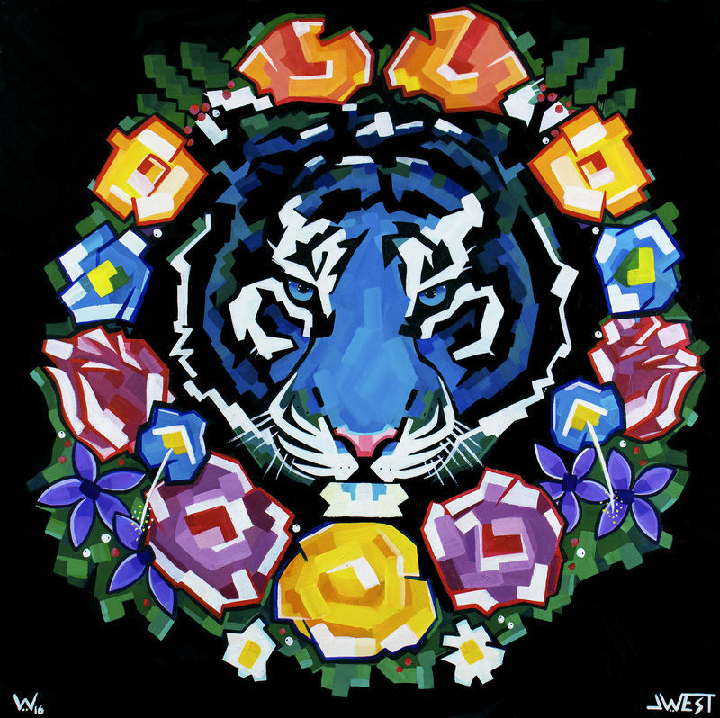 Tiger Wreath  ORIGINAL by J.West - product images  of