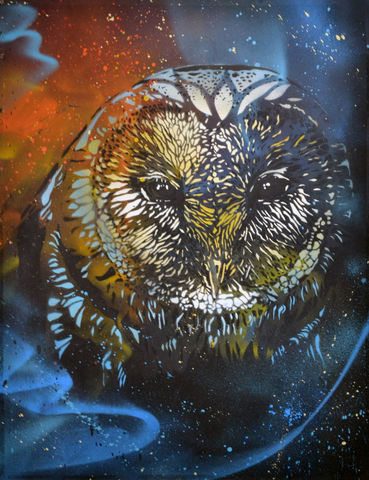 Barn,Owl,No.1,by,Nick,Harvey,(Giclee,print),Nick Harvey, Owl, Giclee print