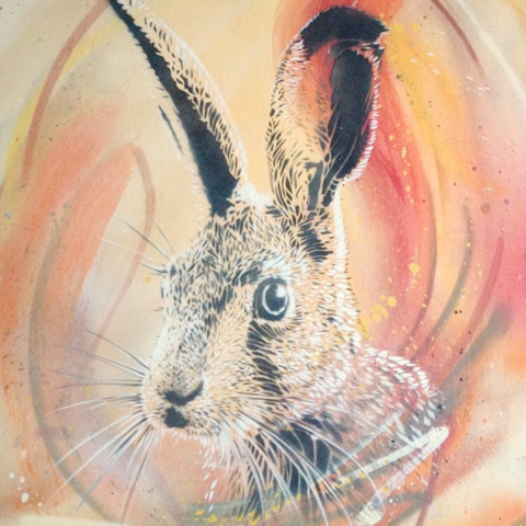 Hare,No.1,by,Nick,Harvey,(Giclee,print),Nick Harvey, Hare, Giclee print