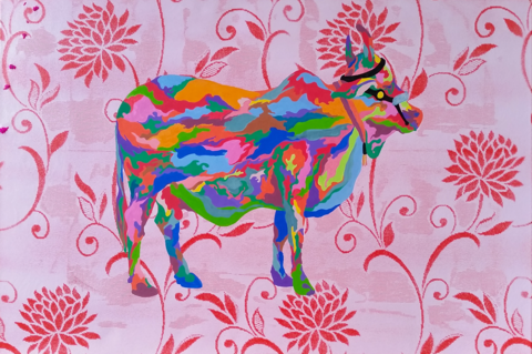 Holy,Cow,signed,limited,edition,print,by,Von,Grey,Signed limited edition print, art, affordable art, giclee print