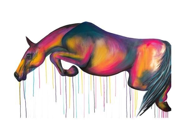 Jumping Horse  by Sophie Long Signed limited edition print - product images
