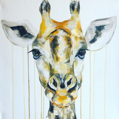 Giraffe,by,Sophie,Long,Signed,limited,edition,print,Giclee Print, Giraffe,,  art, affordable art, Sophie Long