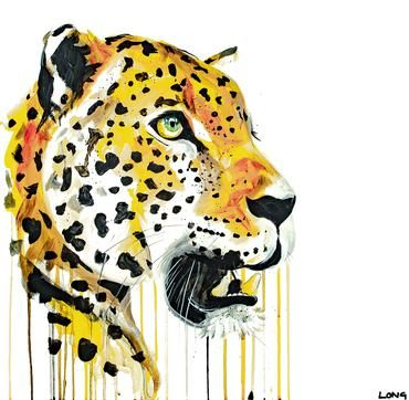 Leopard,30,by,Sophie,Long,Signed,limited,edition,print,Giclee Print, Leopard, Big Catl,  art, affordable art, Sophie Long