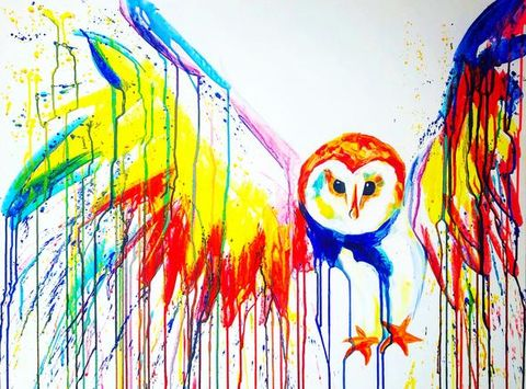 Barn,Owl,by,Sophie,Long,Signed,limited,edition,print,Giclee Print, Owl,  art, affordable art, Sophie Long