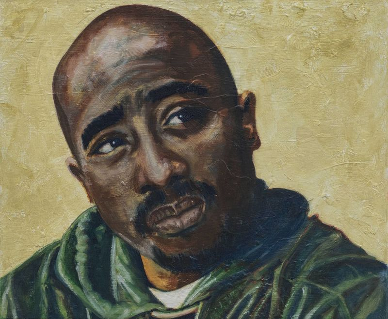 Tupac - signed limited edition print by Ron - product images