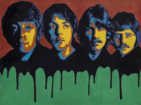 Beatles,Influence,-,signed,limited,edition,print,by,Ron,Limited edition print, Ron, Beatles, musicians