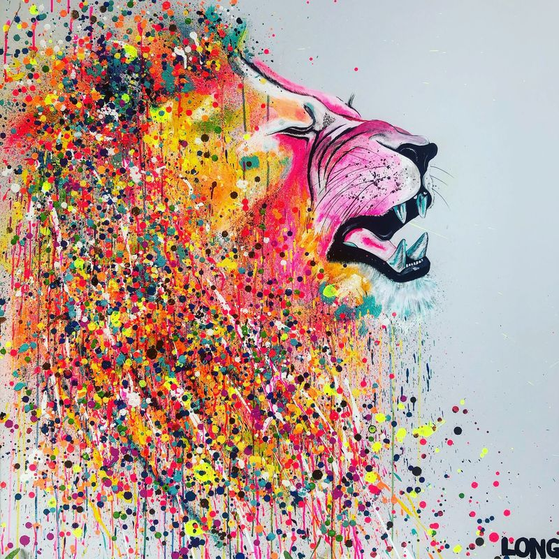 Lion Rawr by Sophie Long (Post card) - product images  of