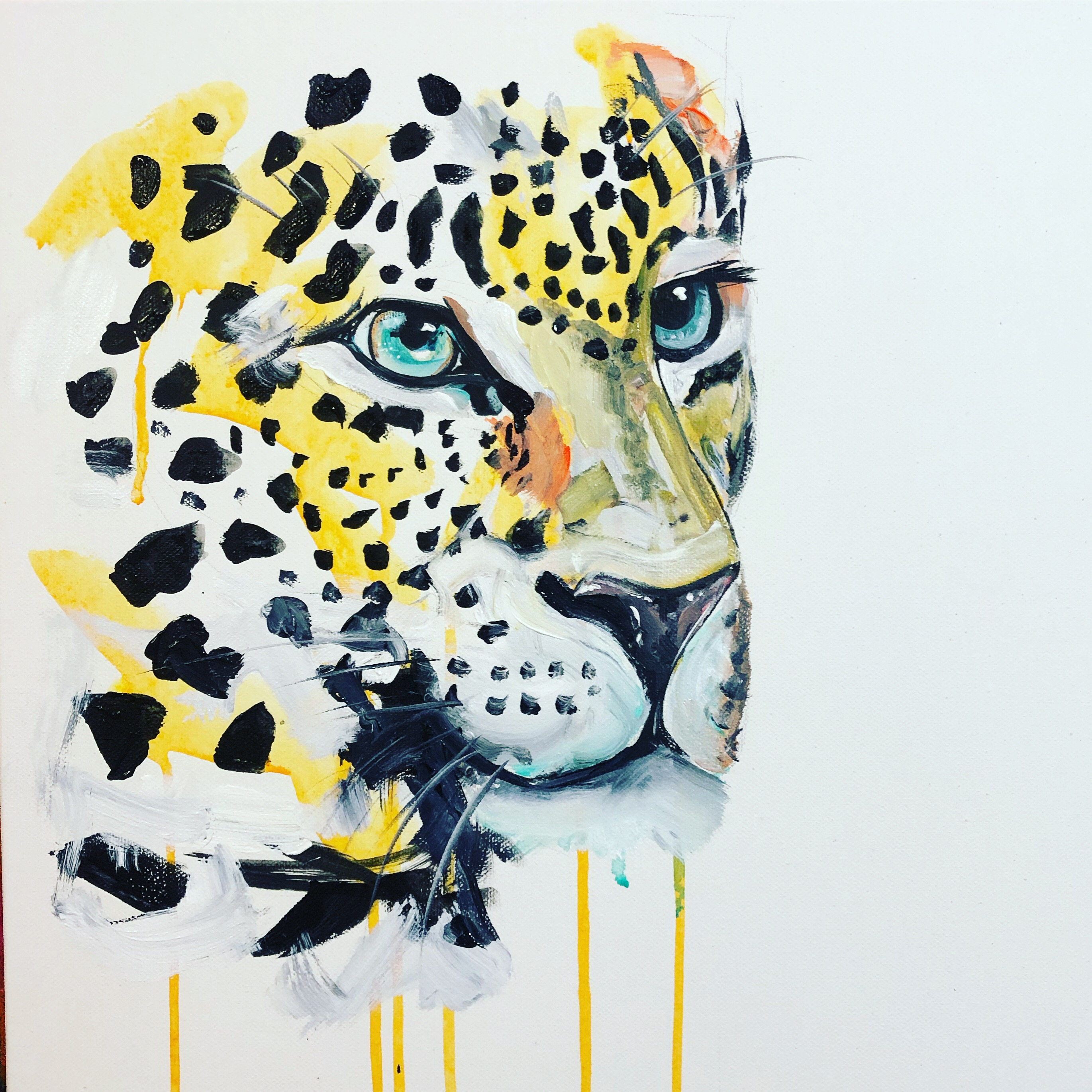 Leopard 30 by Sophie Long signed limited edition prints at The Kane Gallery