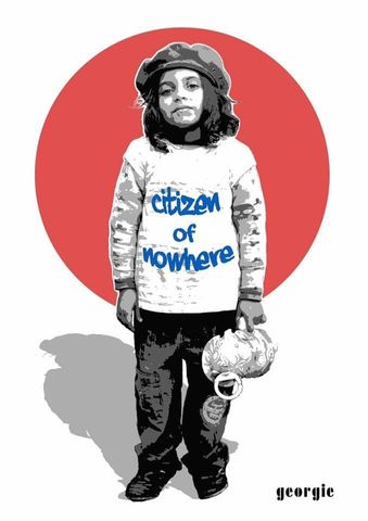 Citizen,of,Nowhere,by,Georgie,signed,limited,edition,unframed,print,Signed limited edition print, Skater Girl, Georgie