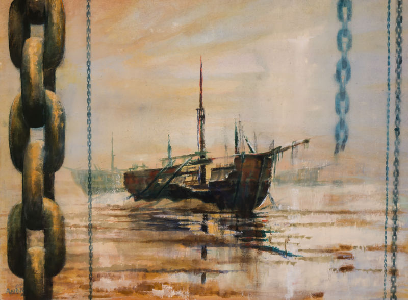 Ships in Graveyard  by Andrew Burns Colwill - product images