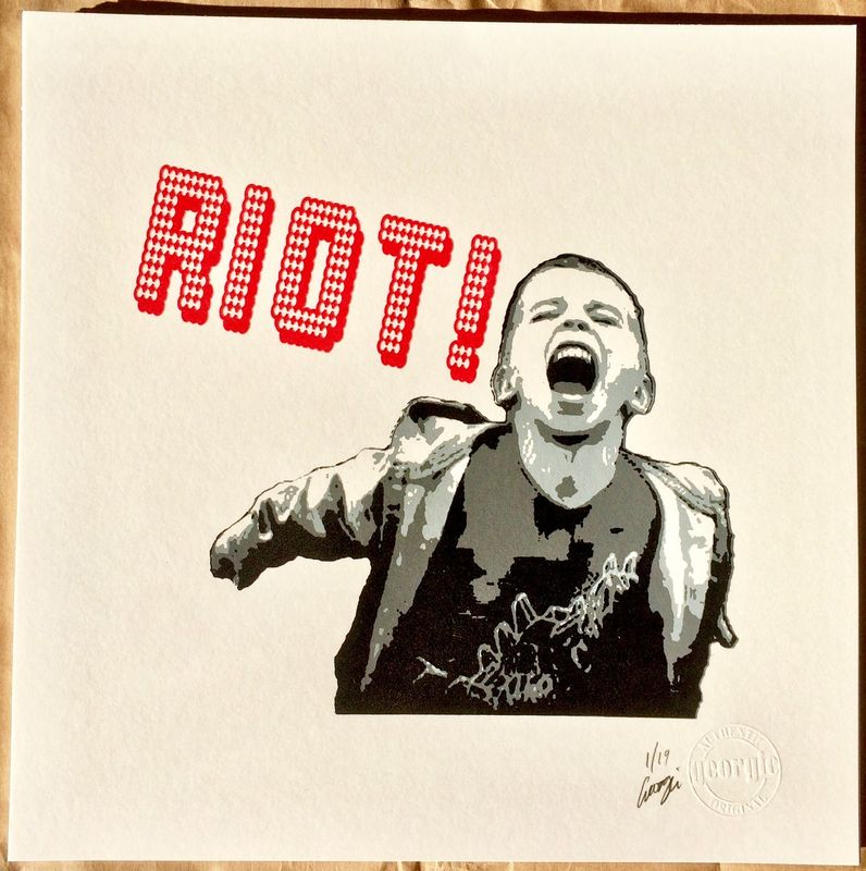 RIOT! by Georgie signed limited edition silk screen print - product images  of